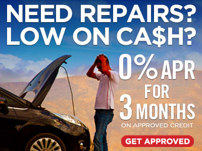 0% APR for 3 months service financing